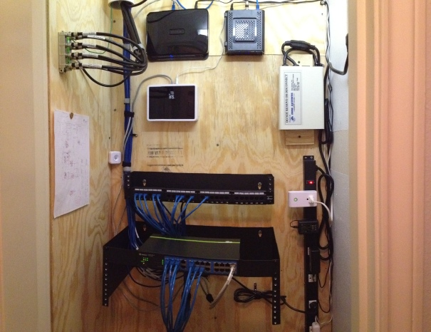 DIY Home Network Closet